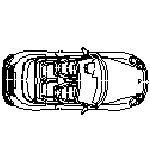 Cad Block of Porsche Cabrio in dwg