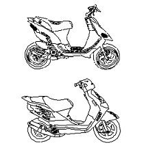 Cad Block of Scootere in dwg