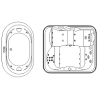Cad Block of Jacuzzi, boblebad in dwg