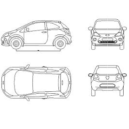 Cad Block of Ford Ka Ny in dwg